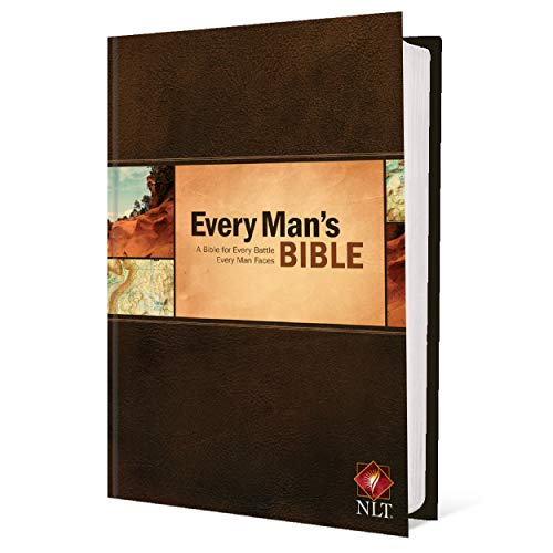 Every Man's Bible: New Living Translation (Hardcover, Every Man's Series) – Study Bible for Men with Study Notes, Book Introductions, and 44 Charts