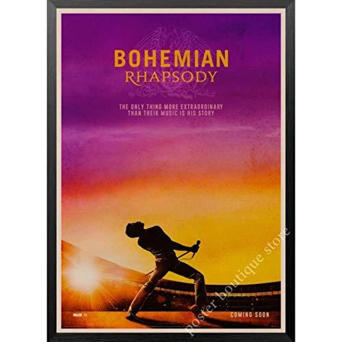 Queen Band Musikplakat Freddie Mercury Brian May Vintage dekorative Malerei Wandaufkleber 50x70cm Kein Rahmen AQ-1543