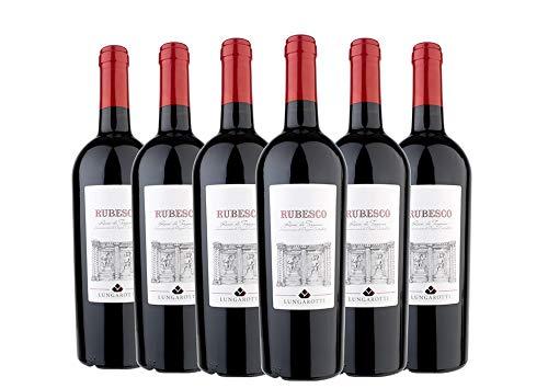 Torgiano DOC Rosso Rubesco box da 6 bottiglie Lungarotti 2016 0,75 L