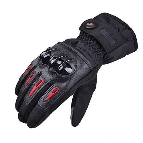 Bruce Dillon Guantes de invierno para motocicleta para hombre, pantalla táctil, guantes impermeables para motocicleta, damas, niños, motocicleta, mujeres, guantes protectores para montar - Negro X XXL