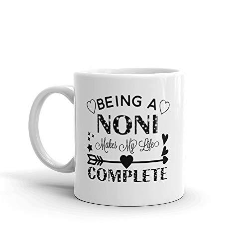 N\A Ser un Noni Hace Que mi Vida Sea Completa Taza de café de cerámica única/Cup & mdash; Cumpleaños Día de la Madre mamá Madre Abuela