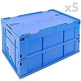 PrimeMatik - Scatola plastica EuroBox Pieghevole e impilabile....