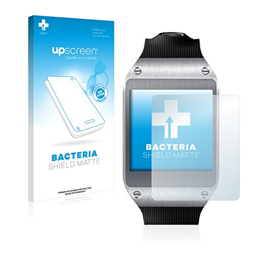 upscreen Antibakterielle Entspiegelungs-Schutzfolie kompatibel mit Samsung Galaxy Gear V700 - Anti-Reflex Bildschirmschutzfolie matt, Anti-Fingerprint