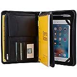 XIAOZHI Deluxe Leather Padfolio Case, Zipper Portfolio Organizer Folio Folder, Fits iPad Mini 4 and Junior Legal A5 Size Papers