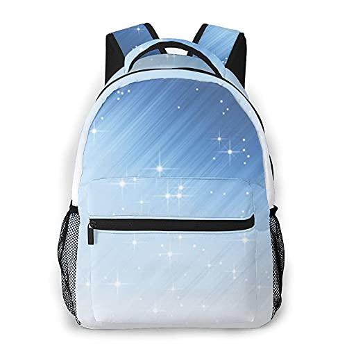 Bingyingne Laptop Mochila Wonderful Bright Stars Daily Mochilas College School BookPantalón Lightweight Student Pantalóns Travel Casual Daypack Computer Pantalón