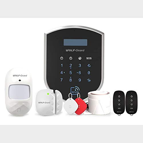Wolf-Guard 3G / GSM WiFi (WM3GR) Sistema de seguridad para el hogar, Kit de vigilancia de alarma para el hogar inteligente DIY