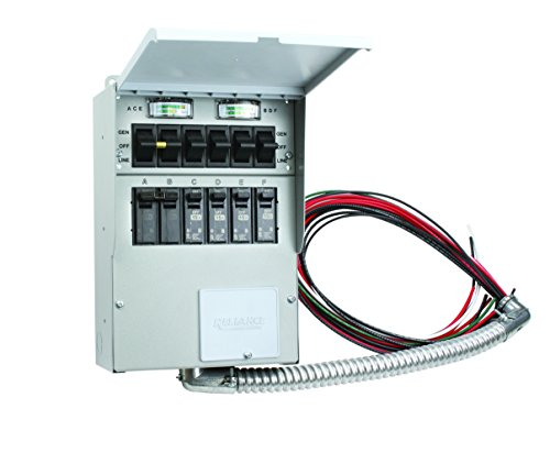 306C Pro/Tran 30-Amp 6-Circuit 2 Manual Transfer Switch