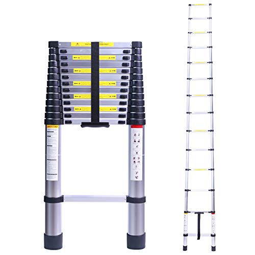 164FT Tall Telescoping Ladder Extension Collapsible Ladders Aluminum Lightweight Telescopic Ladder for RV Loft Home amp Attic 330LB Capacity
