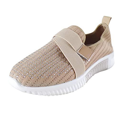 Sandalias Deportivas de Mujer Malla Ligero Zapatillas Casual Cómodas Respirable Sneakers para Deportes Fitness Correr Trabajar