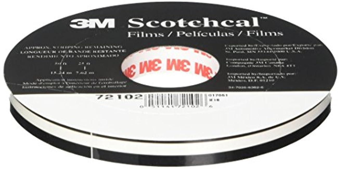 3M 72102 Blk Striping Tape Roll
