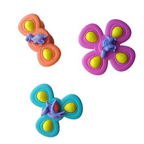 YDLYA Ventosa Juguetes con peonza giratoria Juguetes sensoriales para bebés Juguetes de baño de Animales Lindos para bebés niñas niños