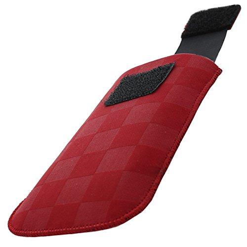 XiRRiX Handytasche mit Ausziehhilfe Size S kompatibel mit Doro PhoneEasy 609 611 612 613 621 622 631 632 6030 Select/Primo 401 405 406 413 / Swisstone BBM 620 - Handy Tasche rot