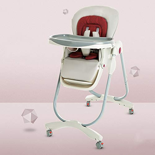 Lowest Prices! ZZXHV Baby and Toddler Folding High Chair, Save Space, Multiple Adjustable Backrest, ...