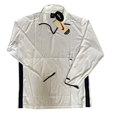 NIKE Andre Agassi Tennis Shirt Bianco Nero Originale Vintage Annata anni 90 Retro Nuovo Medio