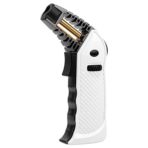 Sondiko Torch Lighter, Butane torch Refillable Kitchen Torch with Safety Lock, Heat-resistant Tube, Piezo Ignition Technology, Adjustable Flame for Creme, Brulee, Cooking(Butane Gas not Included)