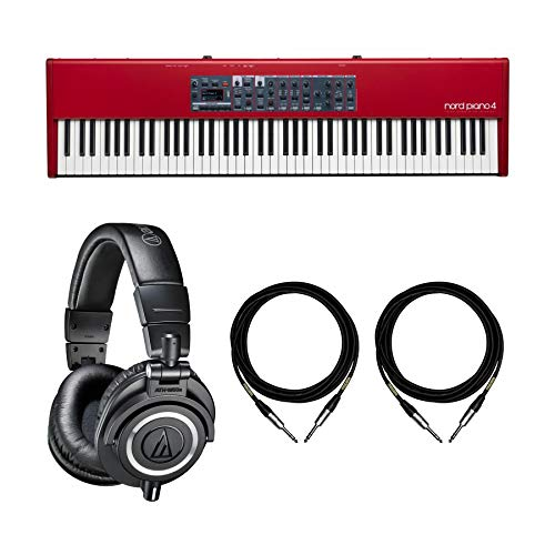 New Nord Piano 4 Bundle with Audio-Technica ATH-M50x Headphones & Mogami 1/4 Cables (4 Items)