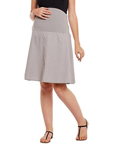 oxolloxo Women's Cotton Maternity Skirt (Grey_Large)