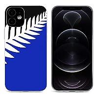 NZ_flag_design_Silver_Fern iPhone 12&iPhone 12 Pro&iPhone 12Pro Max&iPhone 12 miniと互換性のあるクリスタルクリアTPUケース、アンチイエロー、保護耐衝撃落下保護ケース