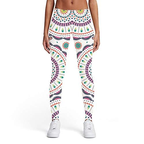 Qiuaii - Pantalones de yoga para mujer con estampado digital 3D