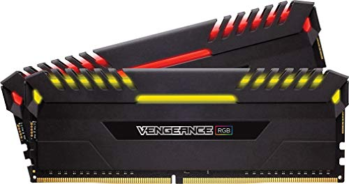Corsair Vengeance RGB 16GB (2 x 8GB) DDR4 3000MHz C15 XMP 2.0 Enthusiast RGB LED-Beleuchtung Speicherkit, schwarz