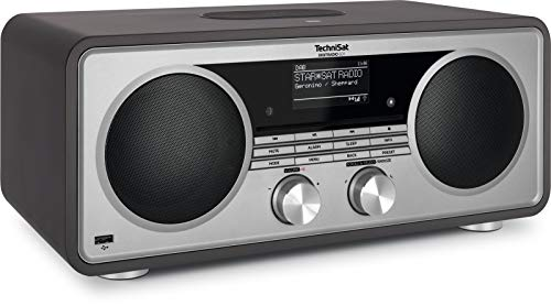 TechniSat DIGITRADIO 601 - Stereo Internetradio (DAB+, UKW, Subwoofer, Fernbedienung, CD-Player, USB, Bluetooth-Audiostreaming, AUX, WLAN, Radiowecker, Wireless Charging, Amazon Alexa) anthrazit