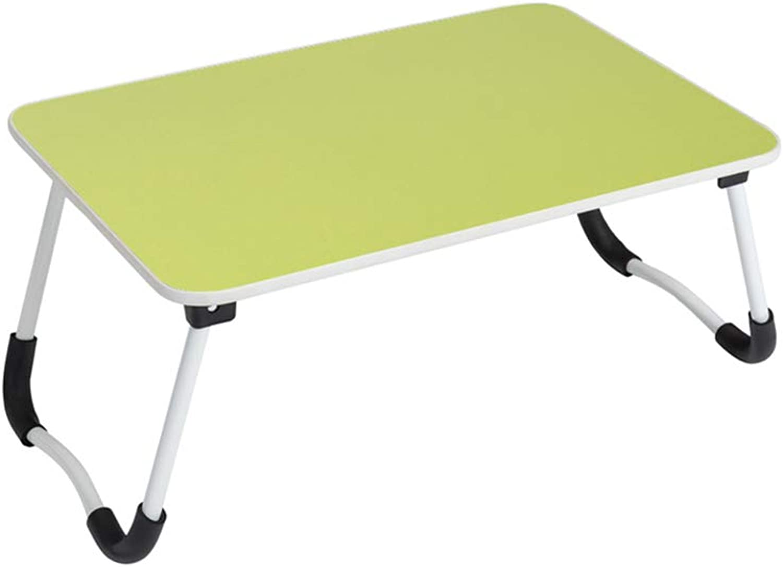 SYDDP Laptop Table Anti-Slip Legs Folding Table Lazy Bed Desk Computer Table 58.5cm×40.5cm×27.5cm (color   B)