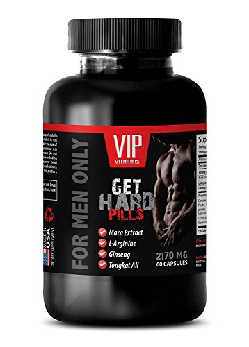 Male Enhancing Pills Increase Size - GET Hard Pills 2170Mg - for Men ONLY - Maca - 1 Bottle (60 Capsules)