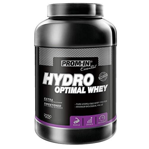 Whey protein | Proteína de suero de leche en polvo de alto porcentaje Hydro Optimal Whey de PROM-IN elaborado por hidrólisis enzimática para garantizar la máxima absorción (Chocolate, 2250 g)