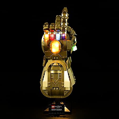 LODIY Beleuchtung Licht Set für Lego Infinity Handschuh 76191 , Beleuchtung für Lego 76191 Infinity Gauntlet (NUR Licht, Nicht Enthalten Lego Modell) (Classic Version)