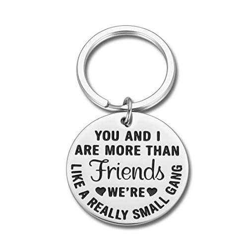 Funny Friendship Keychain Gift for BFF Best Good Friends Birthday Valentines Graduation Gifts for Women Men Coworker Girlfriends Teenage Girls Boys Appreciation Sisters Brother Him Her Key Ring