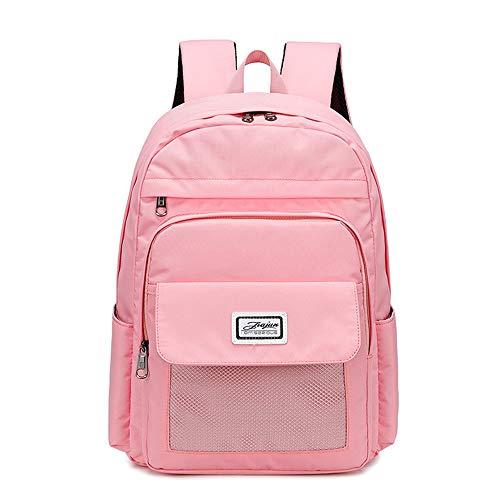 HEIMIAOMIAO Ladies bag Large Capacity 16 inches Laptop Bags Plaid Waterproof Backpacks Women Travel Black Backpack Lady,Pink,41CMx29CMx14CM