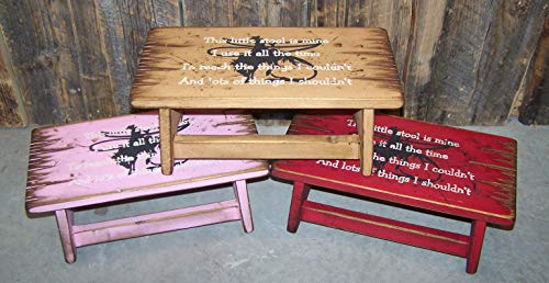 """This little stool of Mine"" Children's step stool made of wood with personalized name, step stool for kids, kids stool, personalized step stool for kids, step stool for children, wood stool for kids"