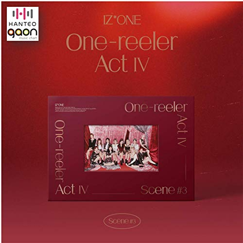 IZ*ONE - 'One-Reeler' / Act IV [Scene #3 ver.] (4th Mini Album) [Pre Order] CD+Photobook+Folded Poster+Others with Tracking, Extra Decorative Stickers, Photocards