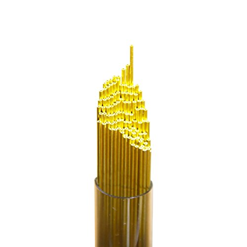 Wire Guy Supply 1.0mm Brass Single Channel EDM Drill Tubes 400mm (100 Pieces) Small Micro Hole Popper Electrodes Rods