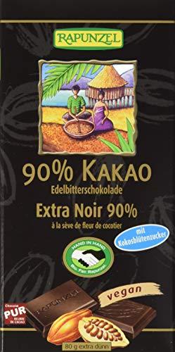 Rapunzel 90 % Kakao Zartbitterschokolade, 12 x 80 g