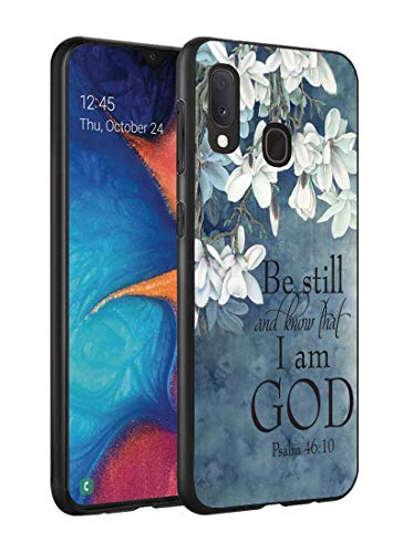 Galaxy A20 Case, Galaxy A30 Case, Slim Impact Resistant Shock-Absorption Silicone Protective Case Cover for Samsung Galaxy A20 (2019) / A30 (2019) - Christian Quotes Bible Verse Psalm 46:10