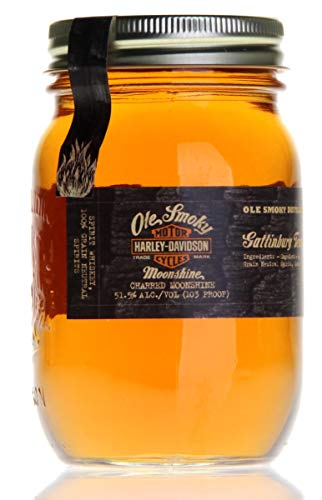 Ole Smoky Harley Davidson Charred Moonshine Whiskey (1 x 0.5 l)