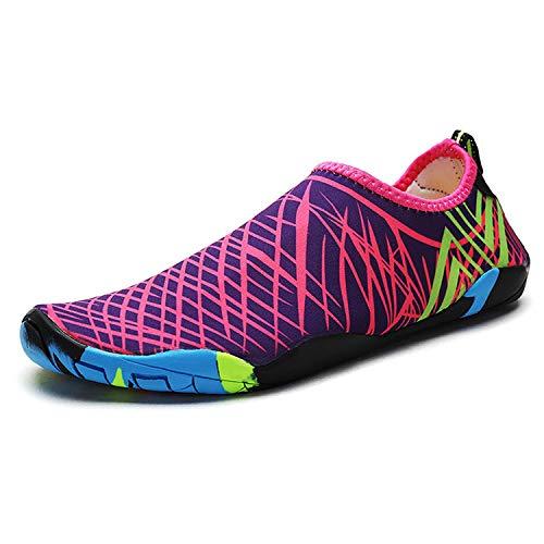 Yidarton Zapatos de agua para la playa, para hombre y mujer, para surf, para deportes acuáticos, piscina, yoga, color, talla 39 EU