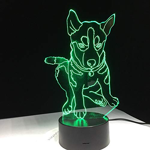 Dog Lighting n's Bedside Sleep Room Table Desk 3D Table Lamp Kids Toy Gift Modeling LED USB Changing Night Light Decoration