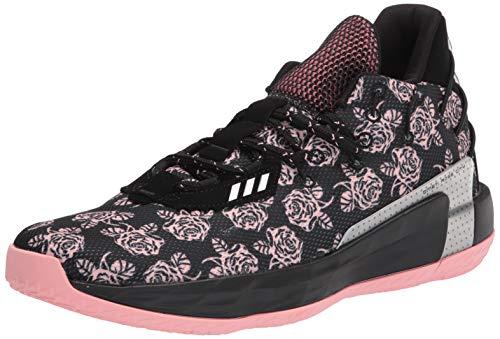 adidas Unisex Dame 7 Basketball Shoe, Black/None/Silver Metallic, 4 US Men