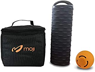 Moji Heated Foam Roller, Small Massage Ball, and Thermal Bag Bundle