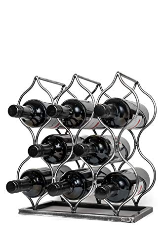 Will's Tabletop Wine Rack - Imperial Trellis (8 Bottle, Silver) – Freestanding countertop Wine Rack and Wine Bottle Storage, Perfect Wine Gifts and Accessories for Wine Lovers, no Assembly Required
