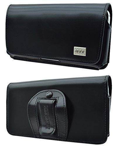 Matiate Original MTT Quertasche mit Samsung Galaxy S21 Plus Horizontal Tasche Ledertasche Handytasche Etui mit Clip & Sicherheitsschlaufe*