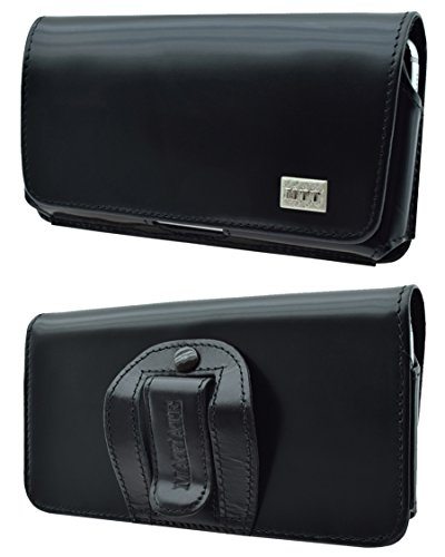 Matiate Original MTT Quertasche kompatibel mit Doro 7060 Horizontal Tasche Ledertasche Handytasche Etui mit Clip & Sicherheitsschlaufe