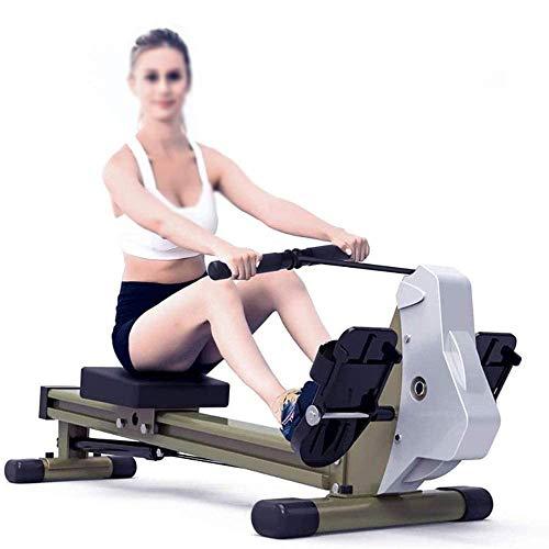 AJH Vogatore, Modello 2020 Vogatore Fitness Cardio Allenamento con Resistenza Regolabile, vogatori Concept 2 Modello D Resistenza idraulica Posizione Seduta Mute Paddle