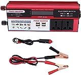 Inversor 6000W RED Solar Power Inverter DC 12V a AC 240V Convertir con 4 cargador USB en el inversor de energía del automóvil de la pantalla digital para el automóvil, la caravana, el barco, el campin