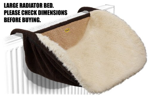 Cleo Deluxe Radiator Bed with Washable Zip On Cover -...