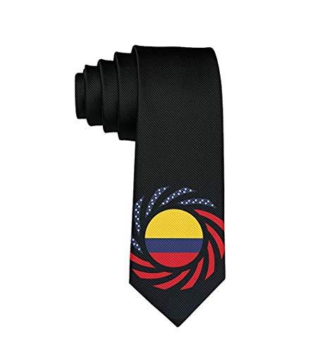 Herrenmode Krawatte Kolumbianische Flagge Krawatte One Size Neck Tie