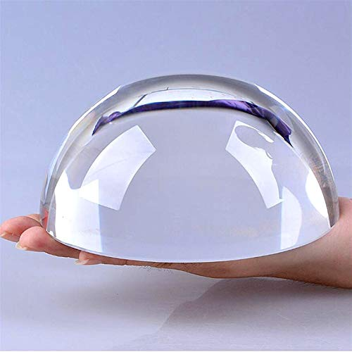 ACEACE Kristall Halbkugel Papiergewehr Glas Hemisphäre Dome Lupe Semi Dekoration Ornamente Kugel Figuren Geschenke Dekor Handwerk (Color : Transparent, Size : 100mm)