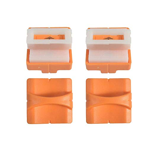 ペーパーカッター ミニ裁断機 切断機 スライドカッター A4サイズ対応 隠された刃 カッター替刃 携帯に便利 ポータブル 写真ブック (替刃4枚入り)